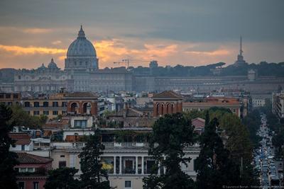 View from  Villa Borghese Gardens