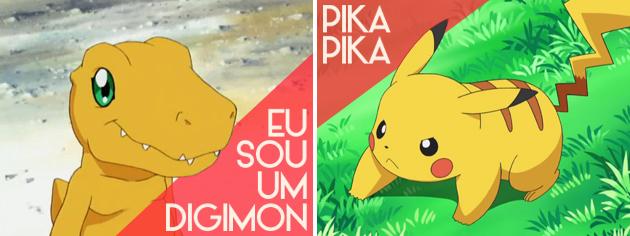 Agumon e Pikachu