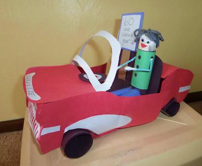 Construction Paper Corvette and Dude