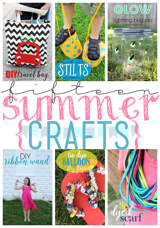 Fifteen Summer Crafts at GingerSnapCrafts.com #summer #crafts