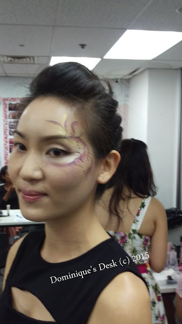 The  make up on the model