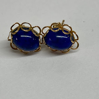 14K Gold and Lapis Lazuli Earrings
