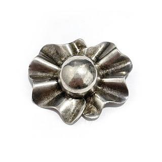 Sterling Silver Floral Brooch