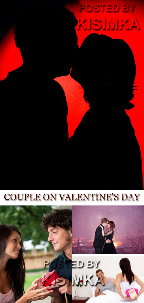 Stock Photo: COUPLE ON VALENTINE DAY