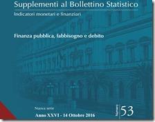 Supplemento al Bollettino Statistico. Ottobre 2016