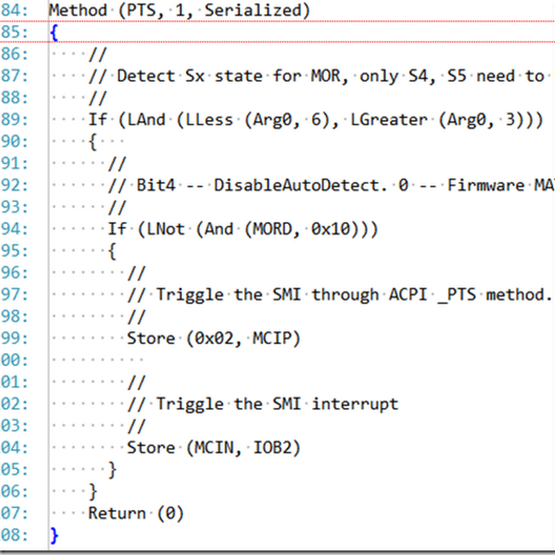 Syntax Highlighting for ASL (ACPI)