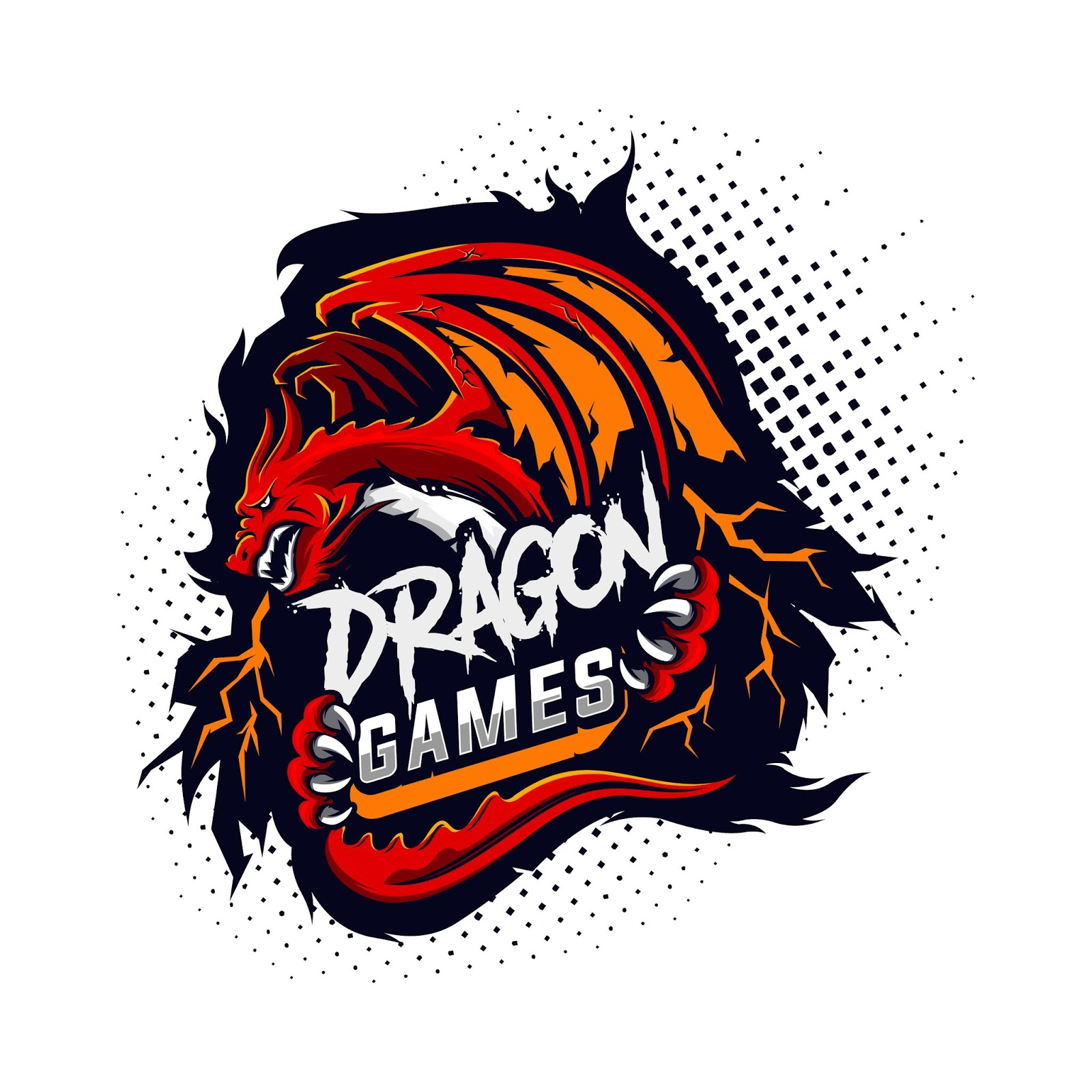 Dragon Gaming Logo Free Download Vector CDR, AI, EPS and PNG Formats