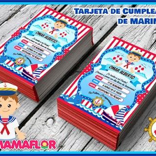 Invitaciones de Marinero para Imprimir Gratis