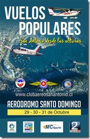 afiche vuelos populares