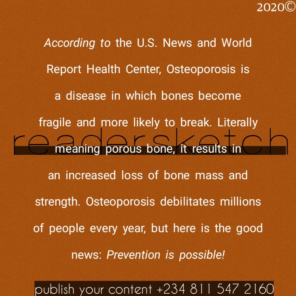 Readersketch, Ayomiposi, writing, osteoporosis