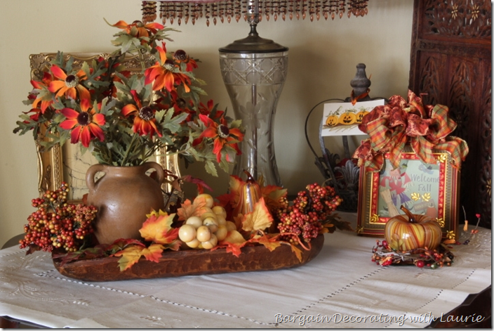 Dough Bowl Vignette for Fall