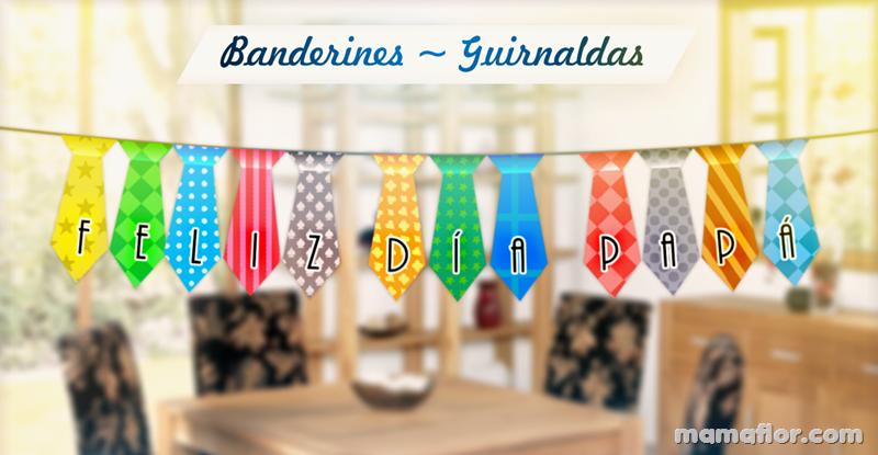 Banderines Guirnaldas en forma de corbata