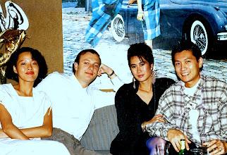 Photo: Chillin' @ Saxophone with Estefania Fu & Dr. Winkie from San Francisco's DV8 CLUB 1988.