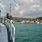Arriving at Plomin harbor.
