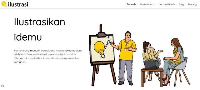 Ilustrasi.id, jasa pembuatan ilustrasi dan video kreatif masa kini