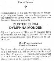 Monden, Eligia Dymphna Zuster Rouwadvertentie.jpg