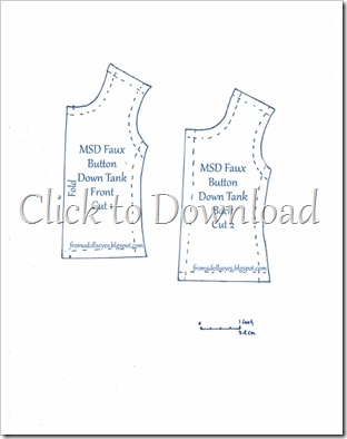 Msd Ball Jointed Doll Faux Button Down Tank Top Pattern