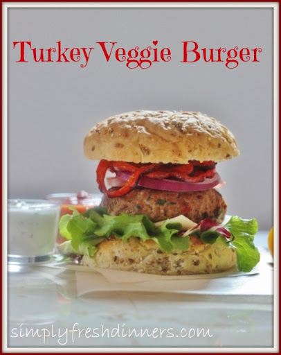 Turkey Veggie Burgers by Simply Fresh Dinners