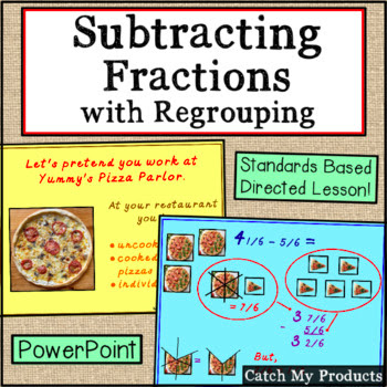 Teaching fractions is easy with PowerPoint for screen share and distance learning.