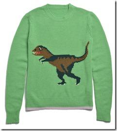 55013 T-Rex Intarsia Sweater - GRN
