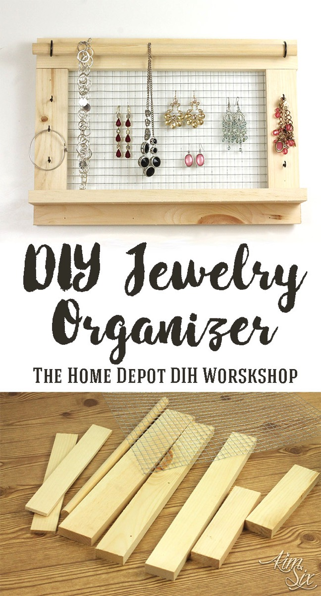 Wall Mounted DIY Jewelry Organizer from scrap lumber and ...
