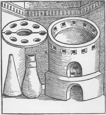 The Sublimatory Furnace Taken From Geber Works London 1678, Alchemical Apparatus