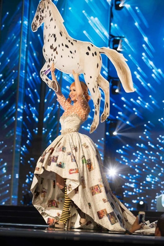 Ida Ovmar, Miss Sweden 2016 debuts her National Costume on stage at the Mall of Asia Arena on Thursday, January 26, 2017.  The contestants have been touring, filming, rehearsing and preparing to compete for the Miss Universe crown in the Philippines.  Tune in to the FOX telecast at 7:00 PM ET live/PT tape-delayed on Sunday, January 29, live from the Philippines to see who will become Miss Universe. HO/The Miss Universe Organization