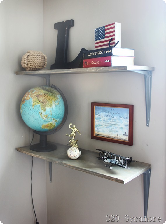 boys room diy shelves