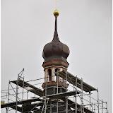 Oprava věže kostela v Třebnicích