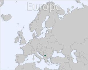 Kosovo location map