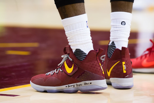 The King Rocks His 32nd LeBron 14 PE in Game 1 Win Over Raptors