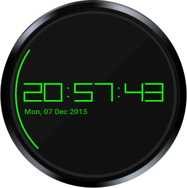 Digistyle Watch Face- screenshot