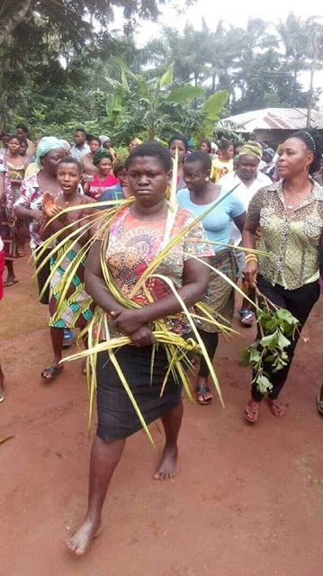 Lady Banished From Enugu Community For Allegedly Killing 4 Of Her Family Members Over Inheritance (Photos)