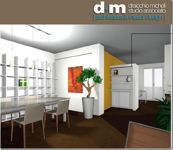 Progetto online intervento in cucina soggiorno pranzo