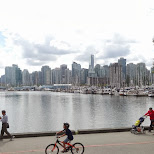 view of Vancouver from Stanley Park in Vancouver, British Columbia, Canada