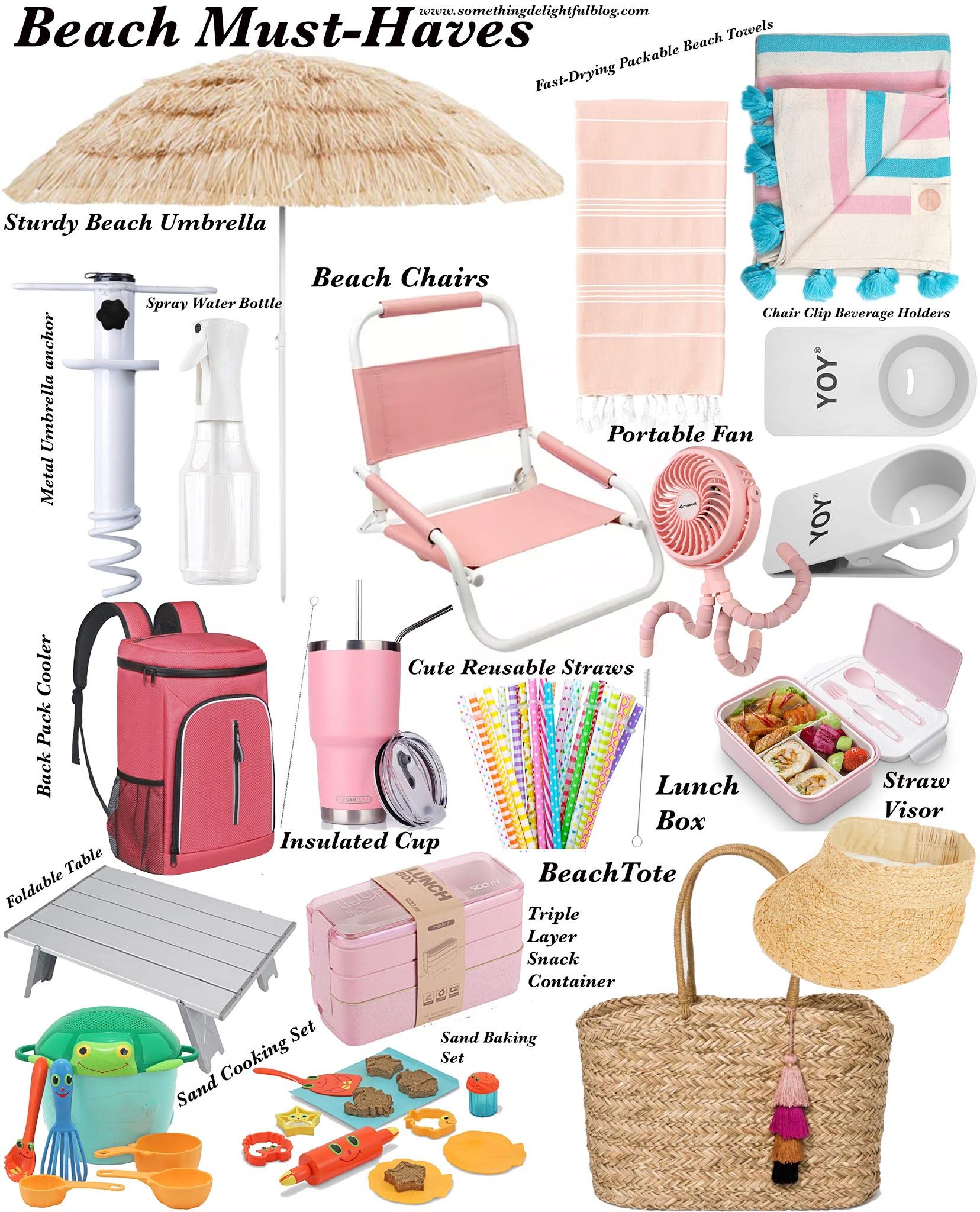 Beach Must-Have Items - Something Delightful Blog #BeachMustHaves #BeachWithKids #BeachAccessories #AmazonBeachFinds