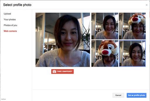 google+ camara-web