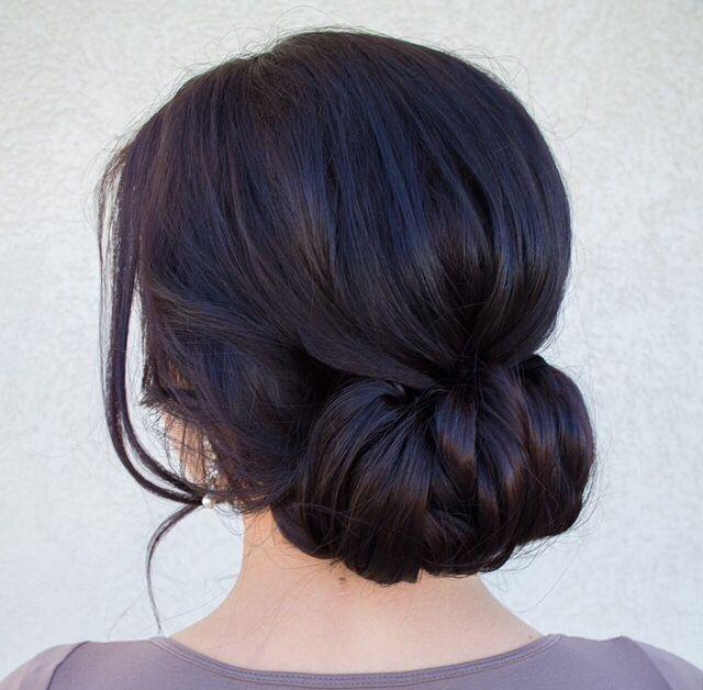 2017 Romantic Low Bun Wedding Hairstyles 1
