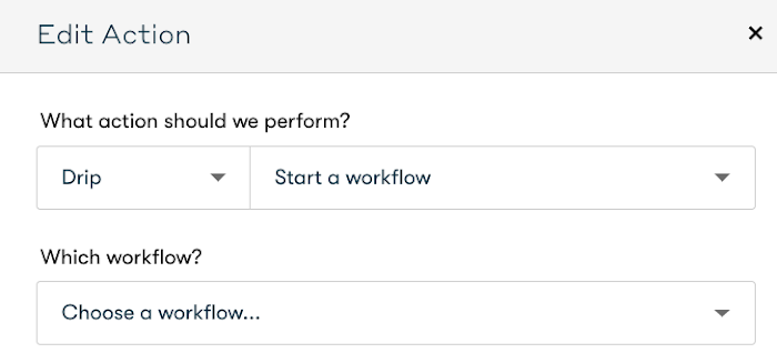Start a workflow action