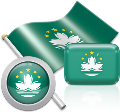 Macanese flag icons pictures collection