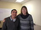 Alfredo de la Rosa, PREP student pictured here with teacher Monica Rizzo, returned to school to complete his High School Diploma in September of 2013.  He has since graduated (November 2014).