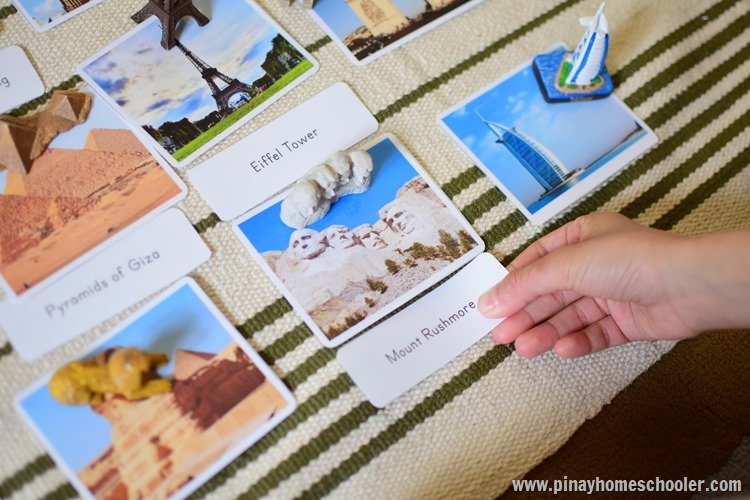 Landmarks of the World 3 Part Cards