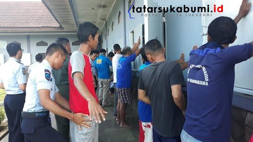 Blok Bravo Lapas Warungkiara Digeledah BNNK Sukabumi