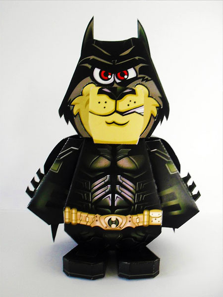 Dark Knight Street Dog Paper Toy