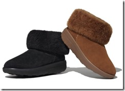 Fitflop Mukluk Black and Chestnut