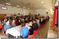 La sala affollata della festa dell'Asd 2Pedali Arsego