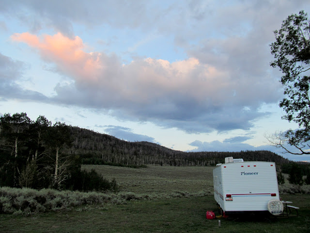Camp after sunset