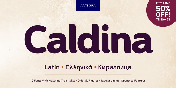 Download Caldina Font Family From Artegra