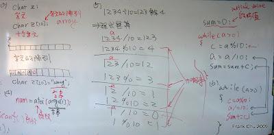 從演算法變成程式敘述的說明