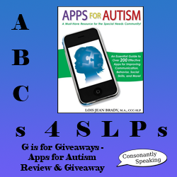 ABCs 4 SLPs: G is for Giveaways - Apps for Autism Review and Giveaway image
